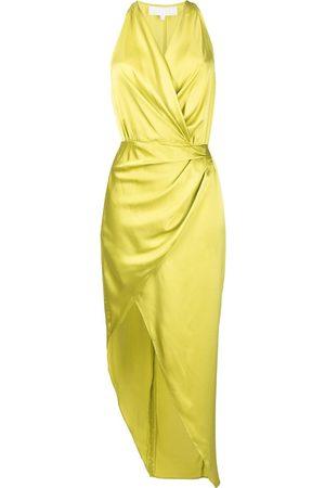 Michelle Mason Senhora Vestidos Assimétricos - Asymmetric halterneck silk dress