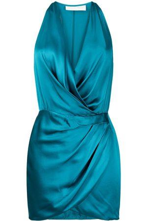 Michelle Mason Silk halterneck mini dress