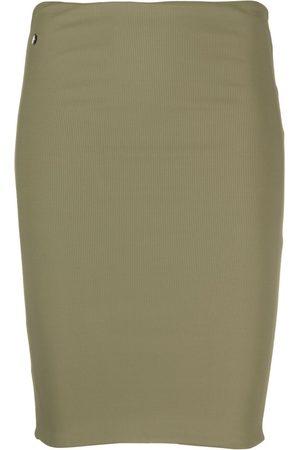 The Attico Ribbed mini skirt
