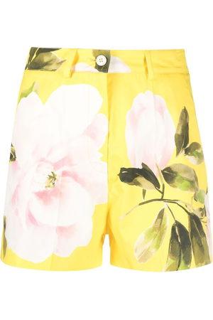 VALENTINO Rose print tailored shorts
