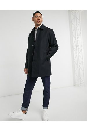ASOS Shower resistant single breasted trench coat in black