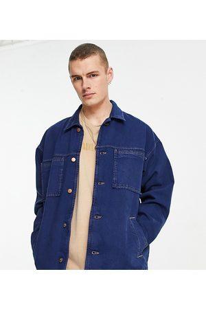 Reclaimed Vintage Inspired denim jacket in blue with pocket detail