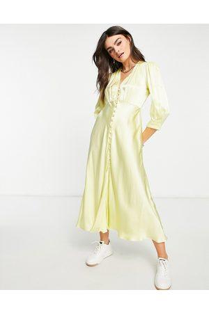 Ghost Maddison dress in lemon-Yellow