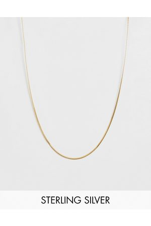 ASOS Sterling silver chain with 14k gold plate