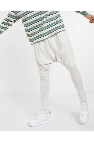 ASOS Lightweight extreme drop crotch joggers in pale grey