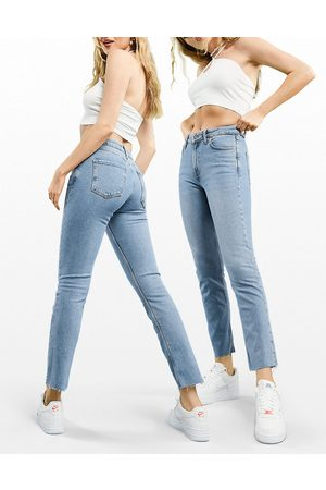 ASOS Mid rise vintage 'skinny' jeans in pretty midwash-Blue