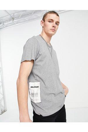 Religion Plain patch t-shirt in light grey