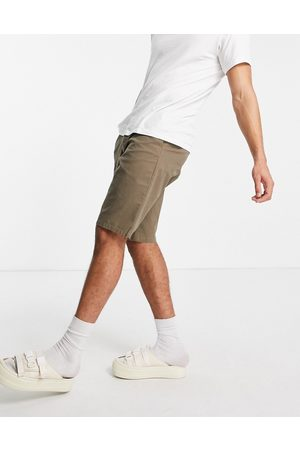 ASOS Wide chino shorts in brown