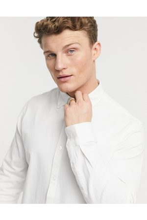 SELECTED Jersey shirt in white-Neutral