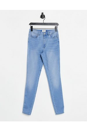 ONLY Royal skinny jeans with high waist in light blue wash