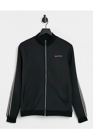 Mauvais Co-ord track jacket in black with contrast piping