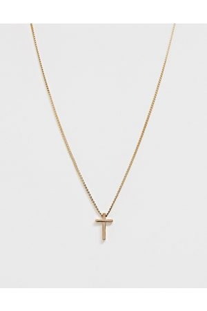 ASOS Neckchain with ditsy cross in gold tone