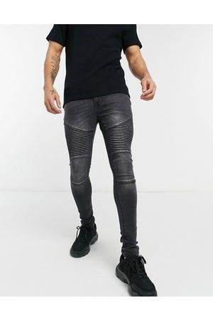 Voi Voi Hendon biker jeans in washed black
