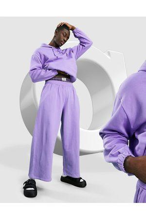 ASOS Co-ord oversized wide leg joggers in purple
