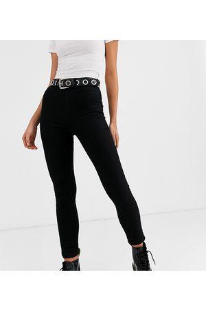 Noisy May Callie high waist skinny jean in black