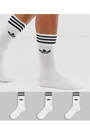 adidas Adicolor Trefoil 3 pack white socks