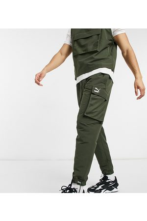 PUMA Avenir logo cargo pant in khaki exclusive to ASOS-Green