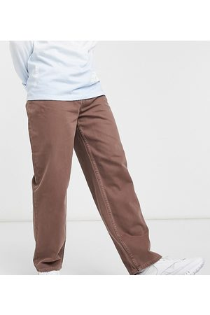 COLLUSION X014 90s baggy jeans in burnt brick-Brown