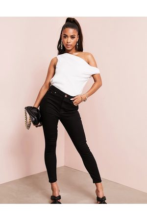 ASOS High rise ridley 'skinny' jeans in clean black