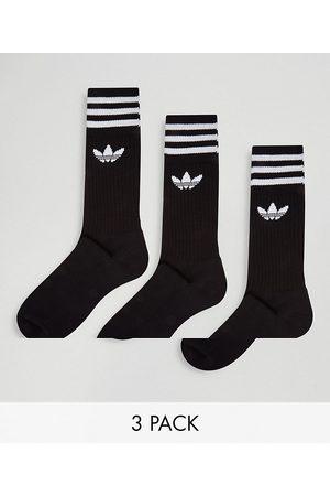 adidas Adicolor Trefoil 3 pack black socks