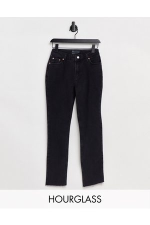 ASOS Hourglass mid rise vintage 'skinny' jeans in washed black