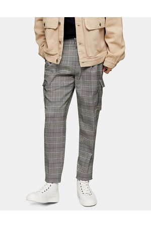 Topman Tapered smart cargo trousers in grey