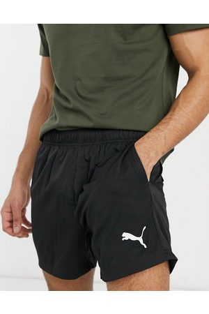 PUMA Essentials woven logo 5 inch shorts in black