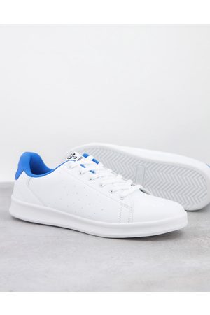 Hummel Hive Busan trainer in white and blue