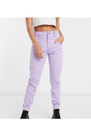 Reclaimed Inspired The 90s straight leg jean with seam detail in lilac-Purple