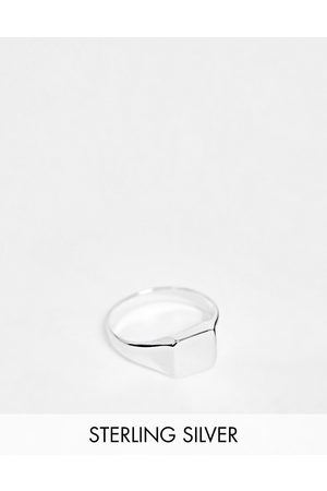 ASOS Sterling silver pinky signet ring in silver
