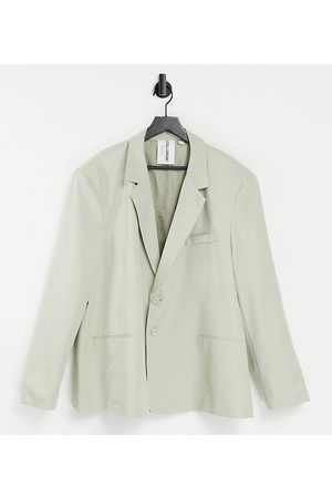 COLLUSION Oversized blazer in pale khaki co-ord-Neutral