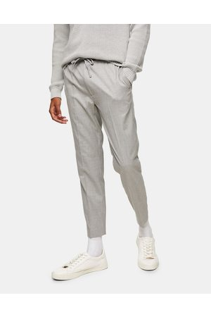 Topman Smart skinny jogger trousers in grey