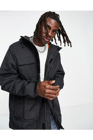 Karl Kani Signature padded utility jacket in black