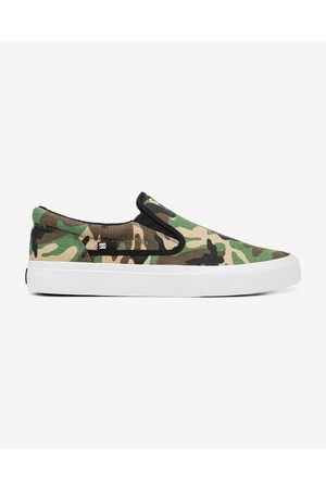 DC Homem Sapatos - Trase Slip On Green Brown