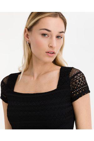 Guess Senhora T-shirts & Manga Curta - Crop Top Black