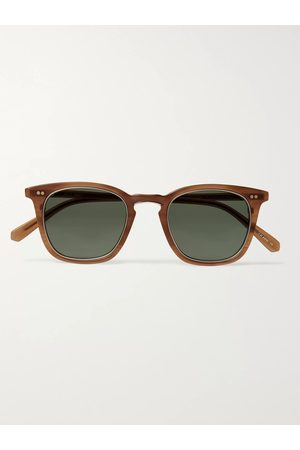 Mr. Leight Getty S Square-Frame Acetate and Gold-Tone Titanium Sunglasses