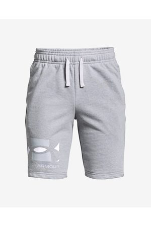 Under Armour Rival Terry Big Logo Kids Shorts Grey