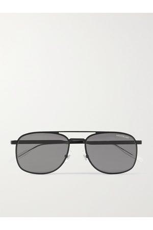 Mont Blanc Aviator-Style Metal Sunglasses