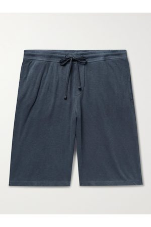James Perse Homem Calções - Mélange Loopback Cotton-Jersey Drawstring Shorts
