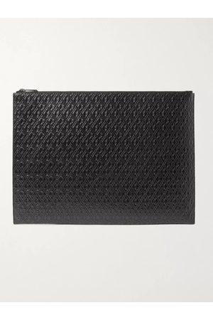Saint Laurent Logo-Debossed Leather Pouch