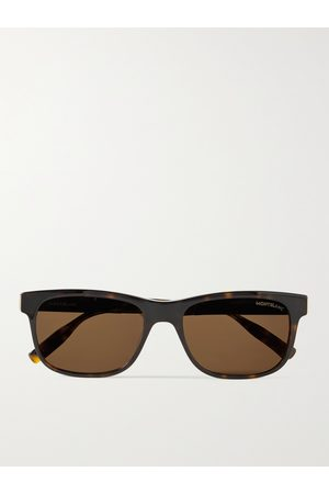 Mont Blanc Homem Óculos de Sol - D-Frame Acetate Sunglasses