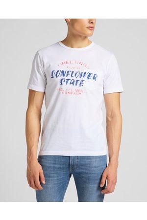 Lee Homem T-shirts & Manga Curta - Poster T-shirt White