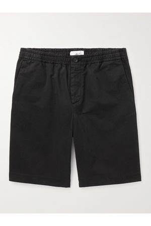 MR P. Dock Garment-Dyed Cotton-Twill Elasticated Shorts