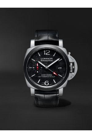 PANERAI Luminor Luna Rossa Limited Edition Automatic GMT 42mm Titanium and Alligator Watch, Ref. No. PAM01096