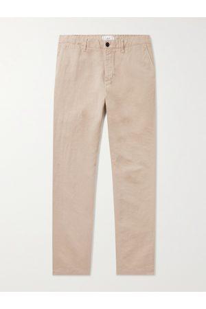 MR P. Homem Calças - Cotton and Linen-Blend Chinos