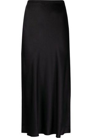 ANINE BING Senhora Saias-lápis - Bar fluted silk skirt