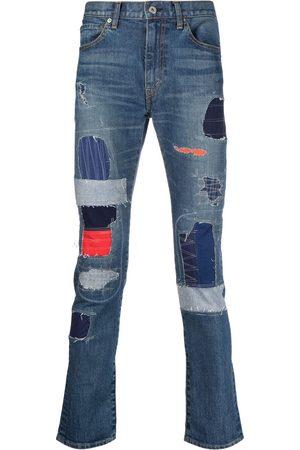 Junya Watanabe Homem Slim - Patchwork slim-fit jeans