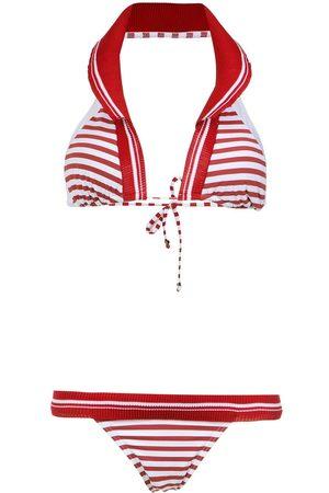 Amir Slama Senhora Bikinis - Printed halterneck bikini set