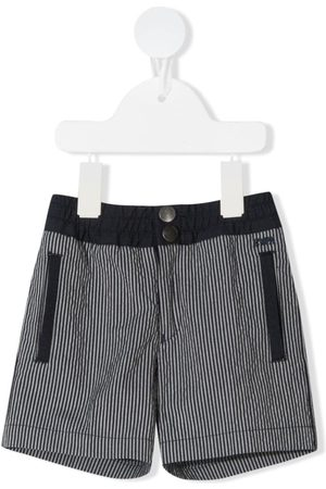 Emporio Armani Bebé Calções - Elasticated-waist striped shorts