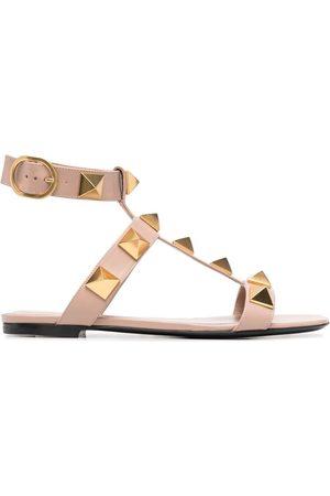 VALENTINO GARAVANI Senhora Sandálias - Rockstud-detail open-toe sandals